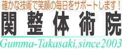 群馬県高崎市の整体院【関整体術院】タイトル画像